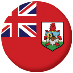 Bermuda Flag 25mm Flat Back